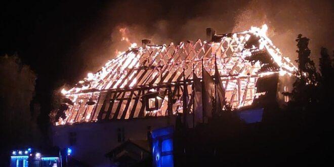 Pożar w sanktuarium w Jakubowie